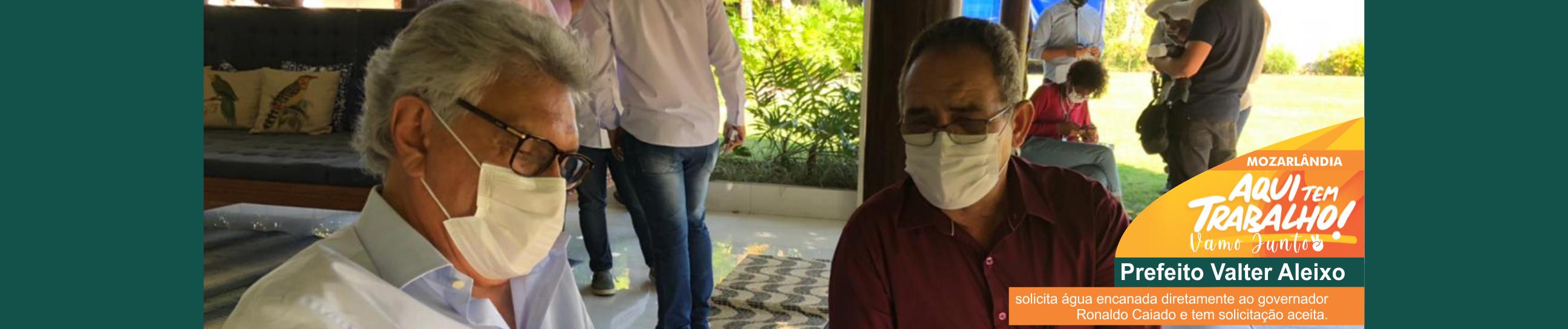 Prefeito Valter Aleixo solicita água encanada para o setor Jaçanã